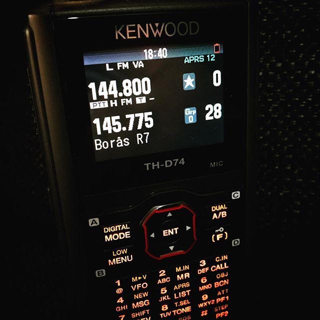 #kenwood #thd74 #aprs #repeater #r7 #hamradio #hamradiouk #sa6bwx #vhf #amateurfunk