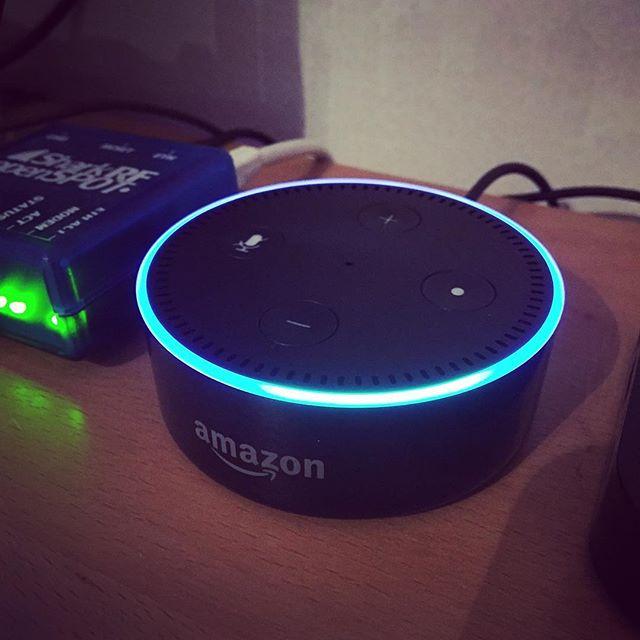 New toy! Say hello to Alexa #echodot #amazon #technology #sa6bwx #someoneislistening