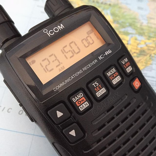 R6 Reciever #icom #icr6 #scanner #communicationsreceiver #sa6bwx #airband #am #esgv #aviation #hamradio #hamradiouk