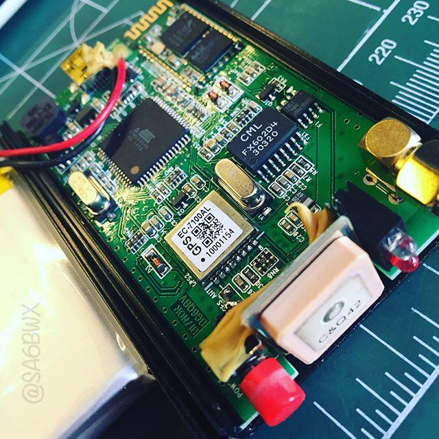 The Avrt5 tracker #aprs #avrt5 #vhf #1w #gps #atmel #ble #bluetooth #lipo #electronics #hamradio #hamradiouk #amateurfunk #sa6bwx