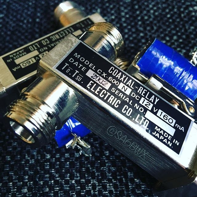 Coax Relay #CX600 #tohtsu #electric #spdt #vhf #hf #hamradio #hamradiouk #amateuradio #sa6bwx #electronics #diode #coil #japan