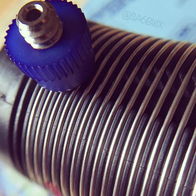 Buddipole Coil #qrp #5w #inductor #buddipole #antenna #hf #shortwave #sa6bwx #portable #hamradio #hamradiouk #sota #elecraft #mchf #electronics